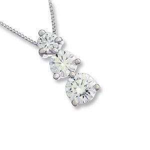 a moissanite again products by gold look charles colvard pendant