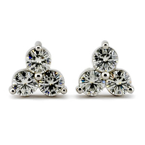 Moissanite Clover Earrings