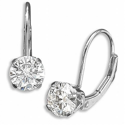 Moissanite Lever back Earrings